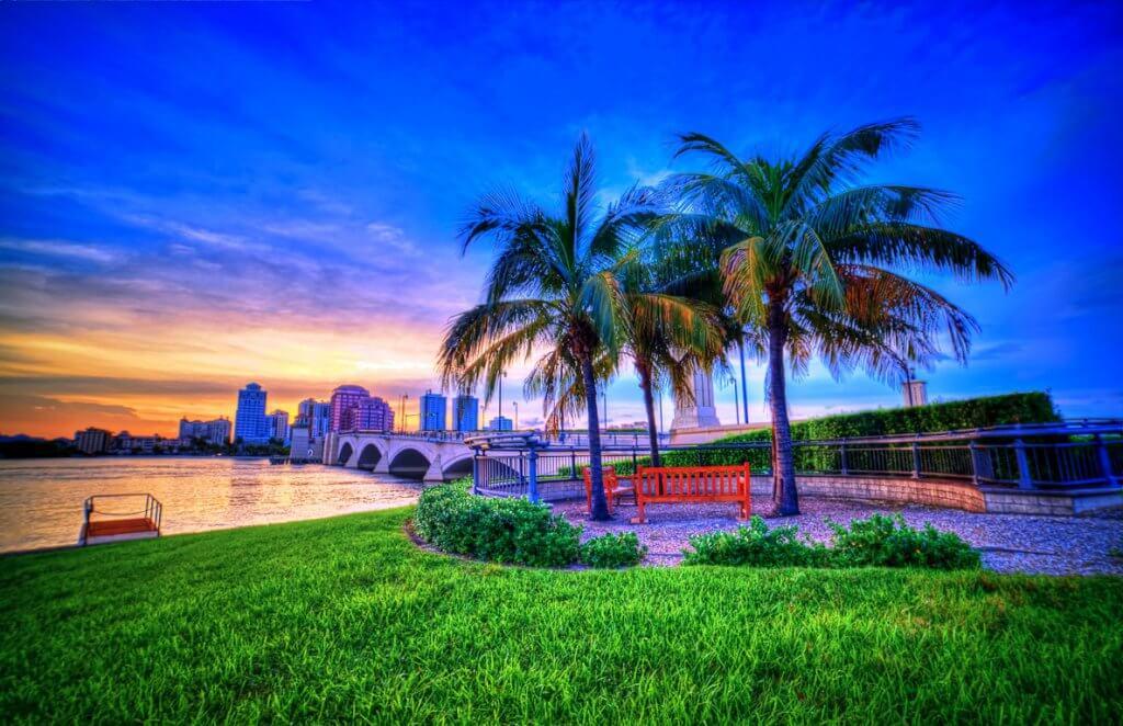 Sunset at Palm Beach Florida