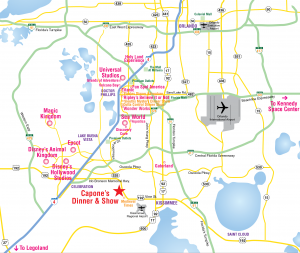 Where to stay: Orlando map