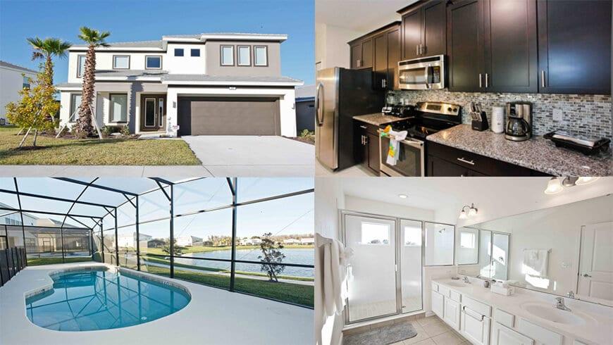 Home areas at Orlando condo