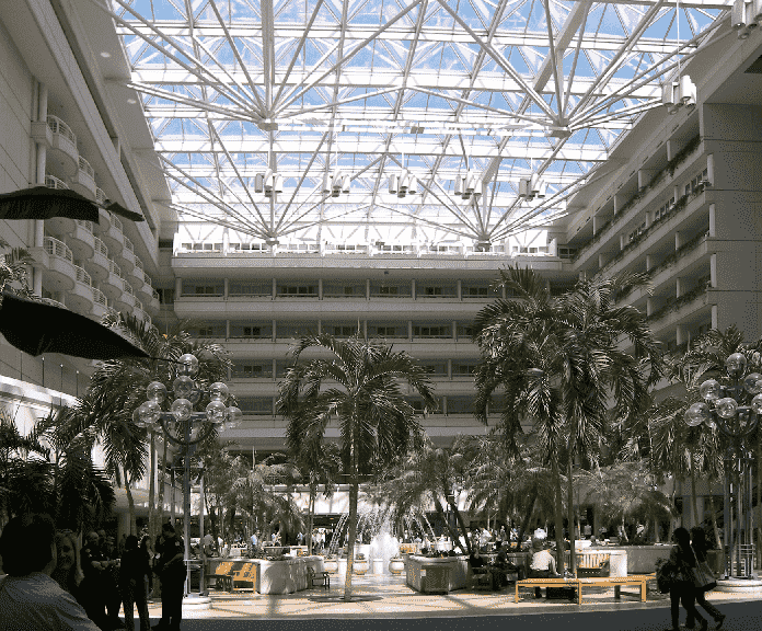 Inside Orlando International Airport