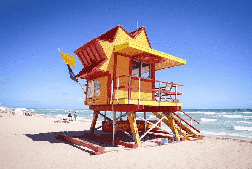 Lifeguard Cabins in South Beach Miami