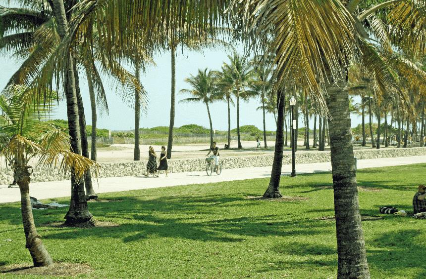Lummus Park Beach in South Beach