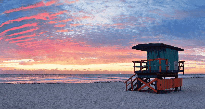 Beaches in South Beach in Miami