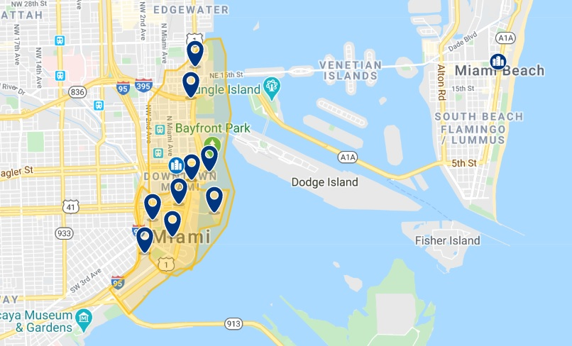 Miami Downtown Map